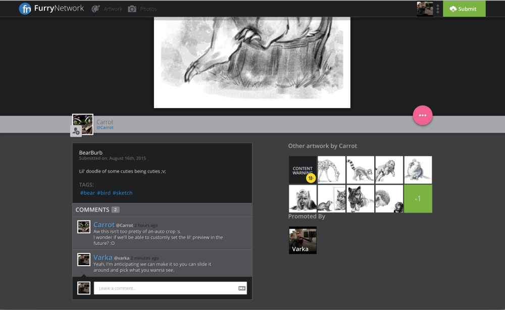 Post View Page - Scrolled down